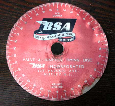 BSA timing disk